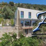 Трехэтажная вилла синфинити бассейном, террасой ивидом наморе, Ницца, Лазурный Берег, Франция